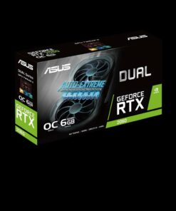 SVGA ASUS NVIDIA DUAL-RTX2060-O6G-EVO 6GB GDDR6 192BIT DVI+2*HDMI+2*DP PCI-E 3.0